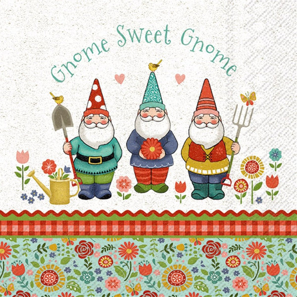 Gnome Sweet Gnome Paper Napkins - Lunch