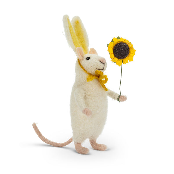 Bunny Mouse with a Flower