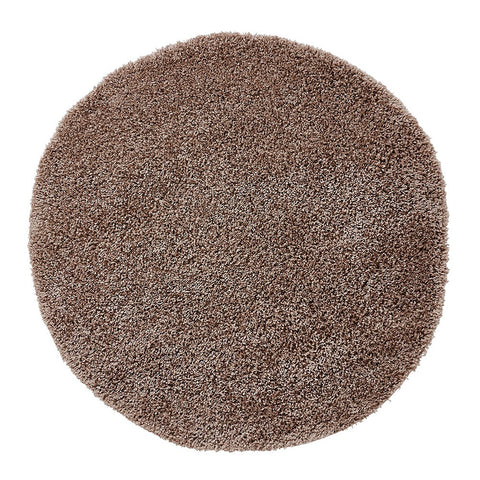 Think Rugs Vista 2236 Beige | Shaggy Beige Rugs | 133cm x 133cm