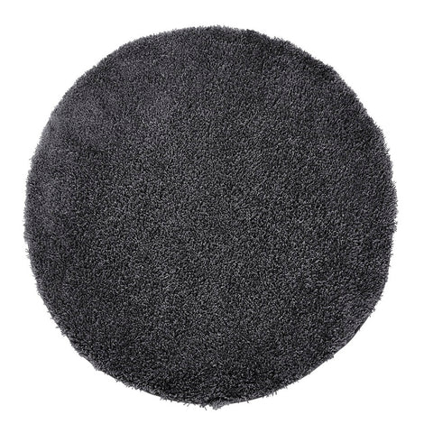 Think Rugs Vista 2236 Dark Grey | Shaggy Dark Grey Rugs | 133cm x 133cm