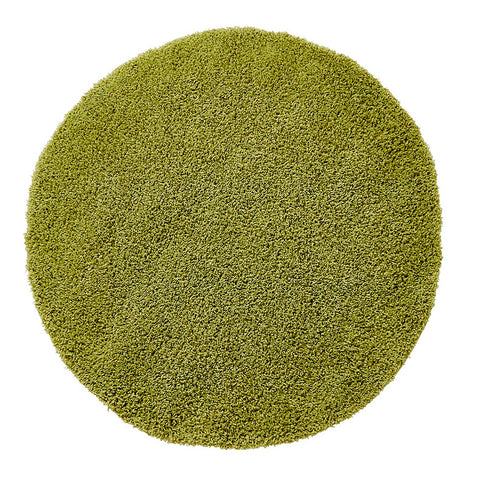 Think Rugs Vista 2236 Green | Shaggy Green Rugs | 133cm x 133cm