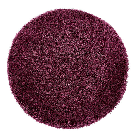 Think Rugs Vista 2236 Purple | Shaggy Purple Rugs | 133cm x 133cm