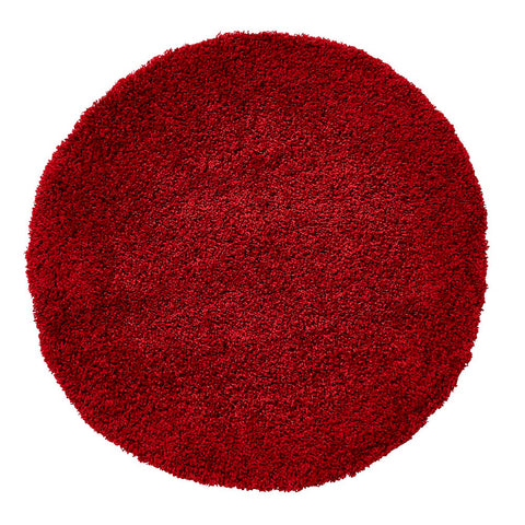 Think Rugs Vista 2236 Red | Shaggy Red Rugs | 133cm x 133cm