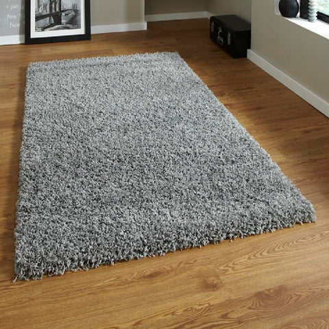Think Rugs Vista 2236 Grey | Shaggy Grey Rugs | 240cm x 340cm
