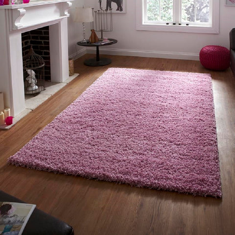Think Rugs Vista 2236 Pink | Shaggy Pink Rugs | 80cm x 150cm