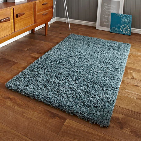 Think Rugs Vista 2236 Teal Blue | Shaggy Teal Blue Rugs | 80cm x 150cm