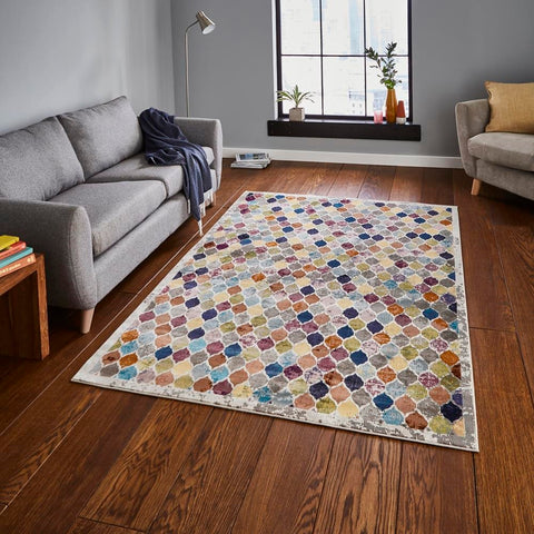 Think Rugs 16th Avenue 35A | Modern Multicoloured Rugs | 120cm x 170cm