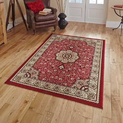 Think Rugs Diamond 4400 | Budget Red Rugs | 115cm x 170cm