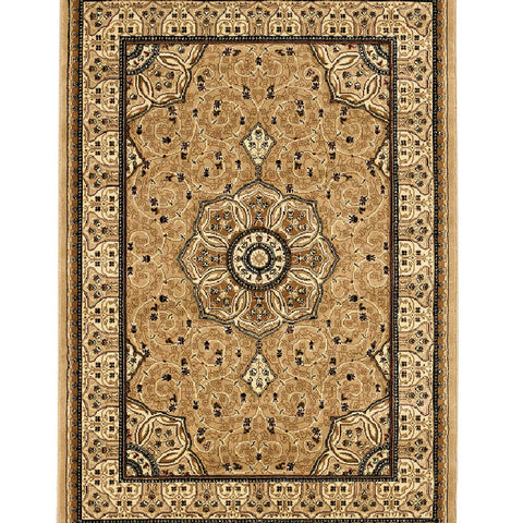 Think Rugs Heritage 4400 Beige | Traditional Beige Rugs | 67cm x 240cm