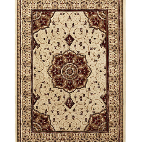 Think Rugs Heritage 4400 Cream & Red | Traditional Cream & Red Rugs | 67cm x 240cm