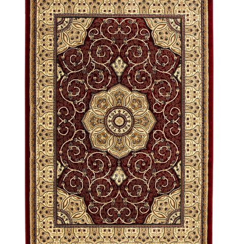 Think Rugs Heritage 4400 Red | Traditional Red Rugs | 67cm x 240cm