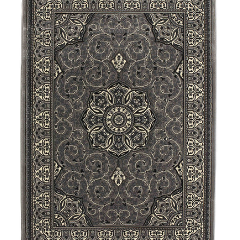 Think Rugs Heritage 4400 Silver | Traditional Silver Rugs | 67cm x 240cm