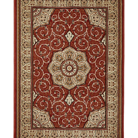 Think Rugs Heritage 4400 Terracotta | Traditional Terra Rugs | 67cm x 240cm