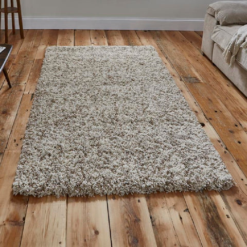 Think Rugs Vista 4803 Shaggy | Shaggy Cream Rugs | 80cm x 150cm