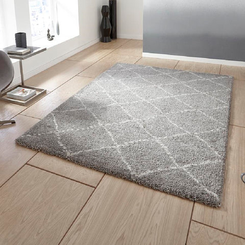 Think Rugs Royal Nomadic 5413 | Modern Grey & Cream Rugs | 120cm x 170cm