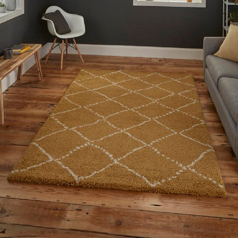 Think Rugs Royal Nomadic 5413 | Modern Yellow Rugs | 160cm x 220cm