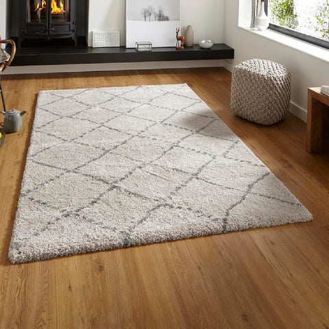 Think Rugs Royal Nomadic 5413 | Modern Cream & Grey Rugs | 160cm x 230cm