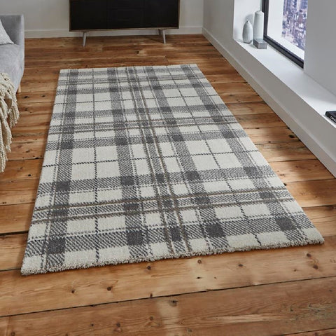 Think Rugs Wellness 6630 | Modern Cream & Light Grey Rugs | 120cm x 170cm