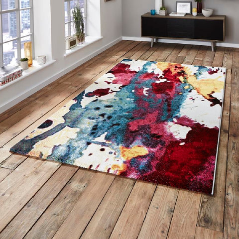 Think Rugs Sunrise Modern | Modern Multicoloured Rugs | 120cm x 170cm