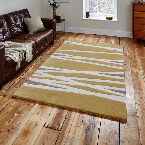 Think Rugs Elements EL61 | Modern Yellow Rugs | 120cm x 170cm