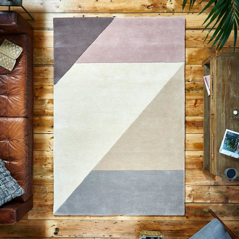 Think Rugs Elements EL83 | Modern Beige & Peach Rugs | 120cm x 170cm