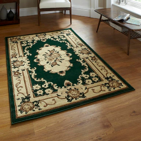 Think Rugs Marrakesh Dark Green | Budget Dark Green Rugs | 60cm x 105cm