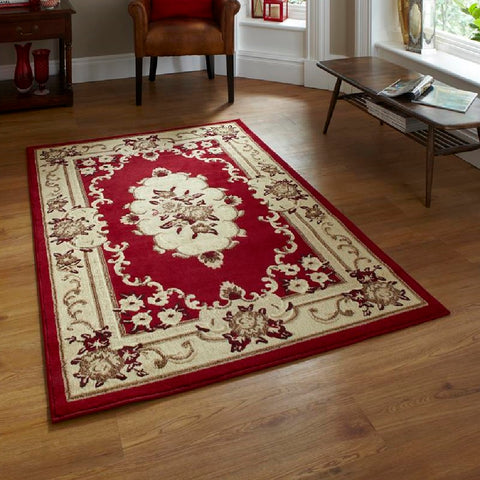 Think Rugs Marrakesh Red | Budget Red Rugs | 60cm x 220cm