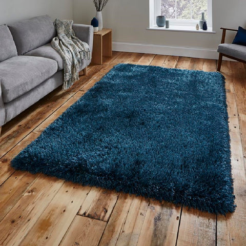 Think Rugs Montana Steel Blue | Shaggy Steel Blue Rugs | 150cm x 230cm