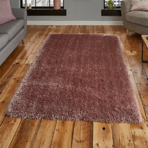 Think Rugs Montana Rose | Shaggy Rose Rugs | 80cm x 150cm