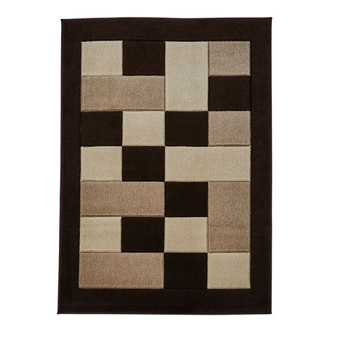 Think Rugs Matrix MT04 Brown & Beige | Modern Brown & Beige Rugs | 60cm x 225cm