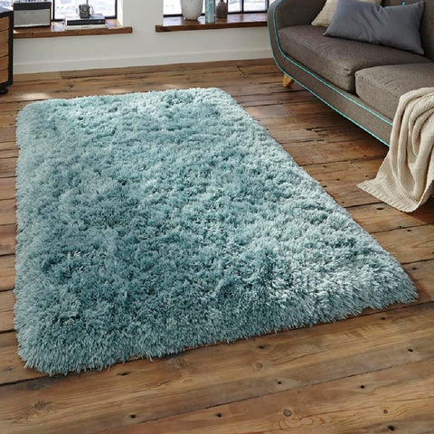 Think Rugs Polar PL95 Light Blue | Shaggy Light Blue Rugs | 60cm x 120cm