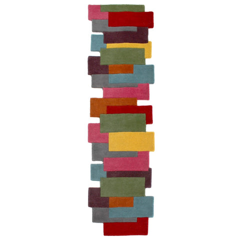 Flair Rugs Abstract Collage | Runner Multicoloured Rugs | 60cm x 230cm