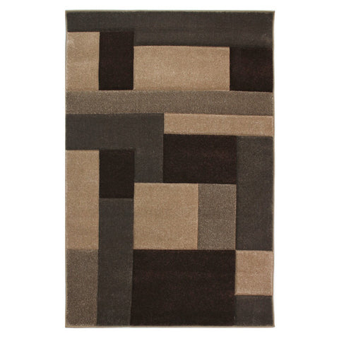 Flair Rugs Hand Carved Cosmos | Modern Beige & Brown Rugs | 80cm x 150cm