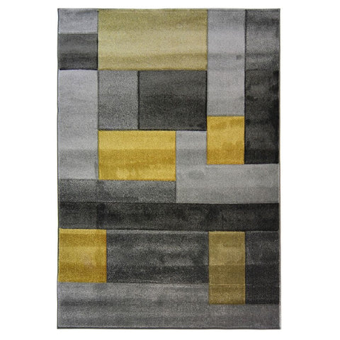 Flair Rugs Hand Carved Cosmos | Modern Ochre Rugs | 80cm x 150cm