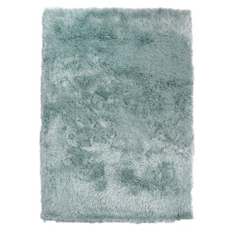 Flair Rugs Dazzle | Shaggy Duck Egg Rugs | 60cm x 110cm