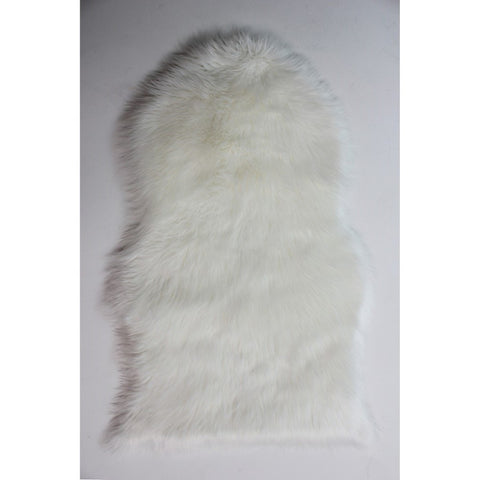 Flair Rugs Faux Fur Sheepskin | Shaggy Cream Rugs | 60cm x 90cm