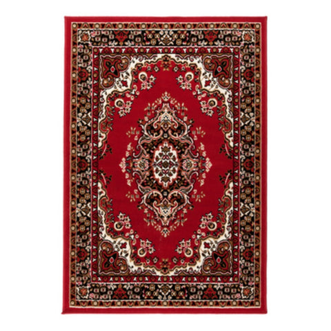 Flair Rugs Element Prime Lancaster | Traditional Red Rugs | 60cm x 110cm