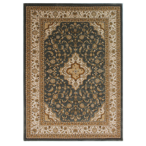 Flair Rugs Ottoman Temple | Traditional Grey Rugs | 80cm x 150cm