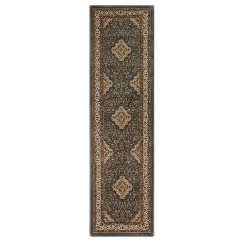 Flair Rugs Ottoman Temple | Runner Grey Rugs | 60cm x 230cm