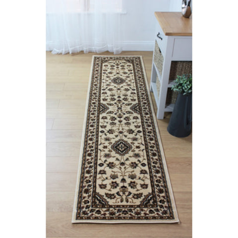 Flair Rugs Sincerity Royale Sherborne | Runner Beige Rugs | 60cm x 230cm