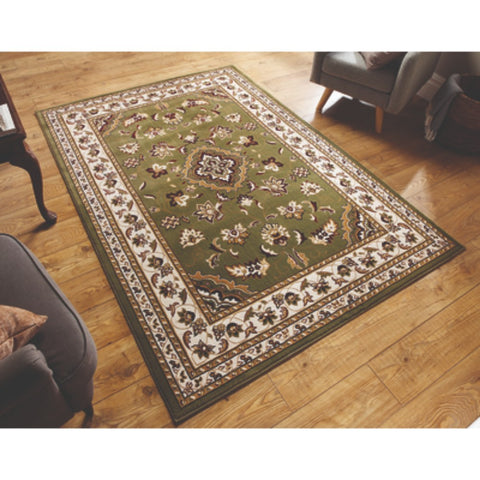 Flair Rugs Sincerity Royale Sherborne | Traditional Green Rugs | 80cm x 150cm