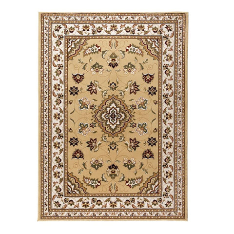 Flair Rugs Sincerity Royale Sherborne | Traditional Beige Rugs | 80cm x 150cm