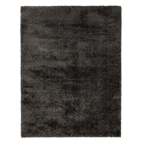 Flair Rugs Velvet | Shaggy Charcoal Rugs | 120cm x 170cm