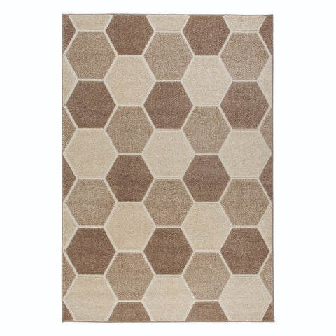 Flair Rugs Visiona Aspect Hive | Modern Natural Rugs | 200cm x 290cm