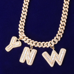 Bougie Baguette Name Necklace