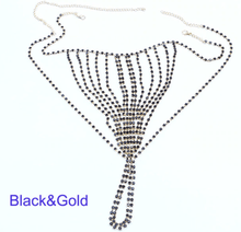 Load image into Gallery viewer, Rhinestone Lingerie Body Chain - crown-modern