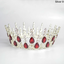 Load image into Gallery viewer, Multicolored Crystal Luxury Crown - crown-modern