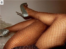 Load image into Gallery viewer, Shiny Carnival Fishnet Stockings - crown-modern