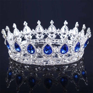 Red Blue Pink Silver Crystal Royale Crown - crown-modern