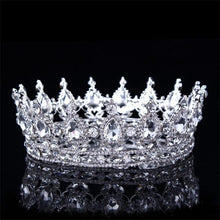 Load image into Gallery viewer, Red Blue Pink Silver Crystal Royale Crown - crown-modern